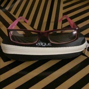 Vogue glasses. Clear frames, no prescription.